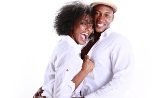 11890092 - expressions of an african american couple in love