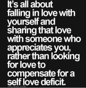 Falling in love with self